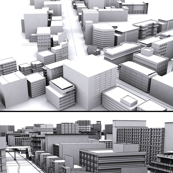 Movie City 3d Model