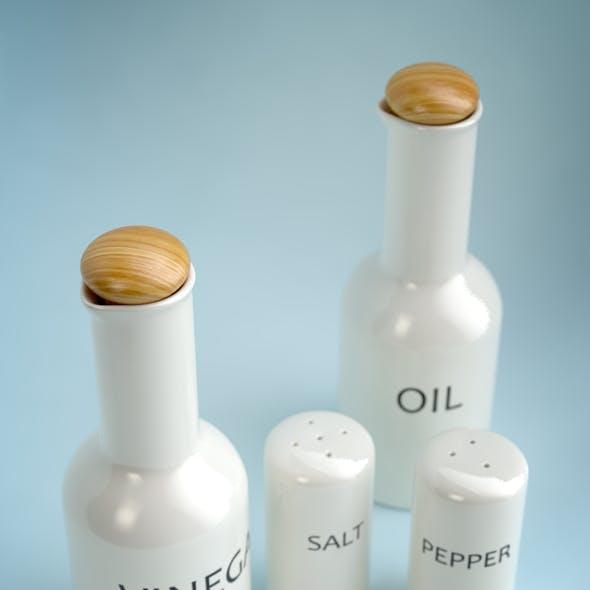 Oil, Vinegar, Salt & Pepper SET I