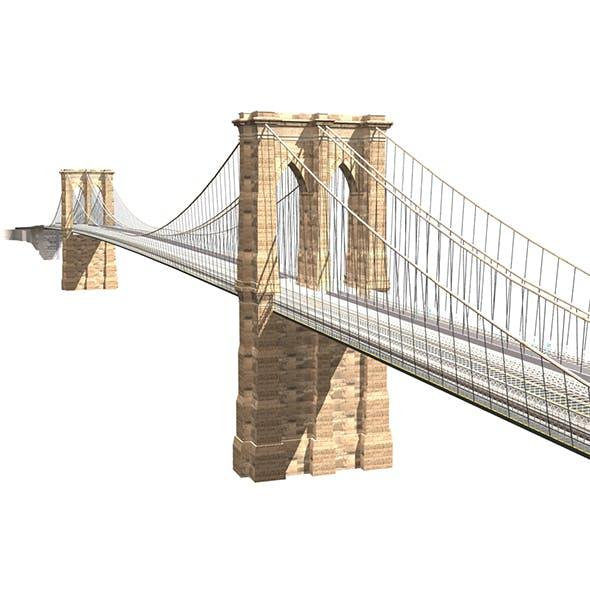 Brooklyn Bridge 3d model - 3DOcean Item for Sale