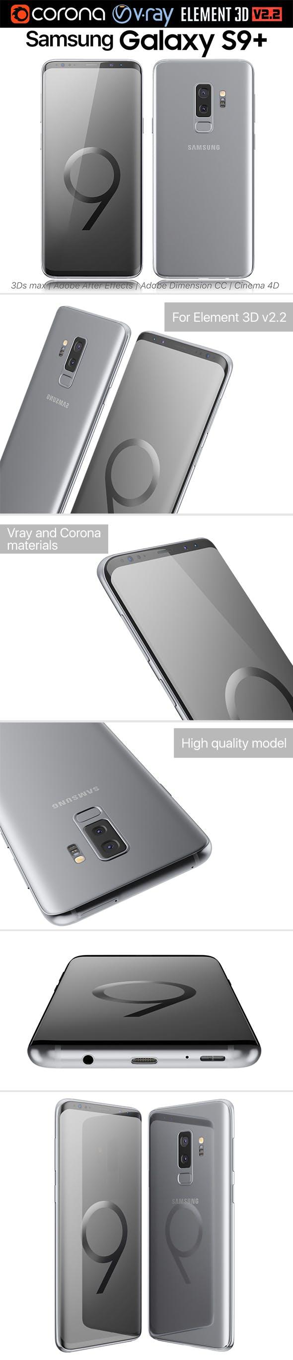 Samsung Galaxy S9 PLUS Titanium Gray - 3DOcean Item for Sale