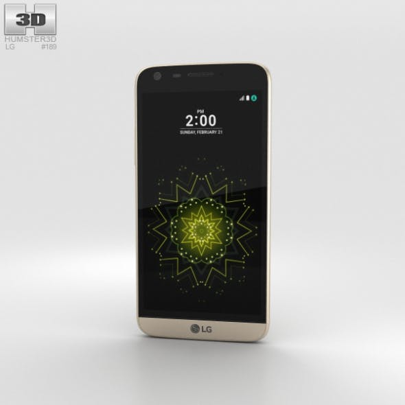 LG G5 Gold - 3DOcean Item for Sale