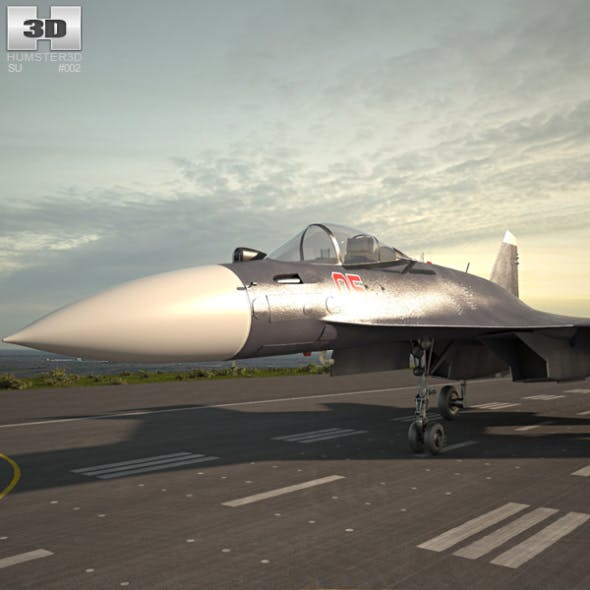 Sukhoi Su-35 - 3DOcean Item for Sale