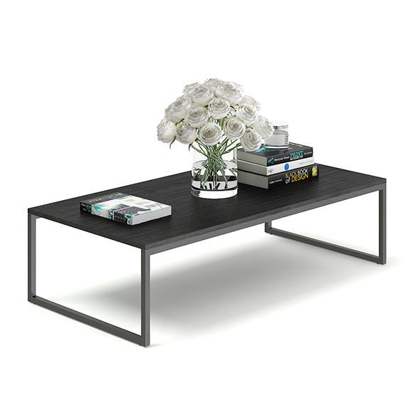 Black Coffee Table 3D Model - 3DOcean Item for Sale