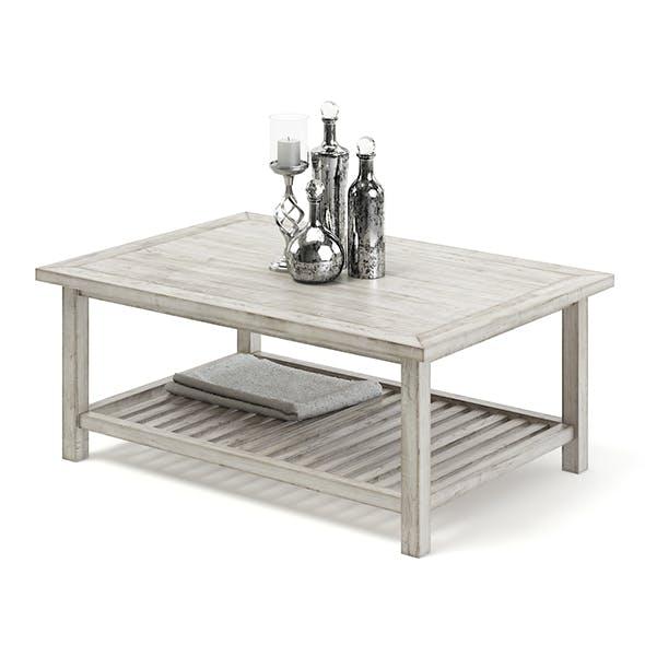 Worn Wood Coffee Table 3D Model