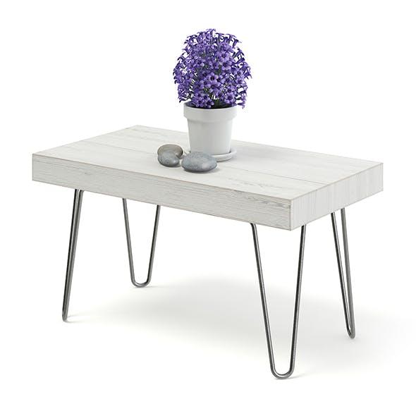 Worn Wood Coffee Table 3D Model - 3DOcean Item for Sale