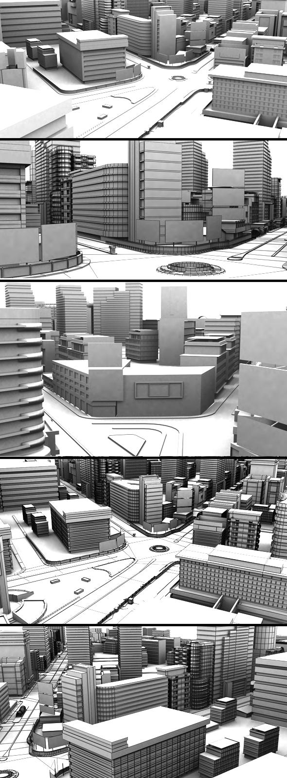 Movie City Vol 2 - 3DOcean Item for Sale