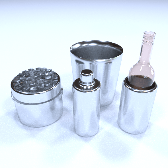 Duke Stainless Steel Cocktail - 3DOcean Item for Sale