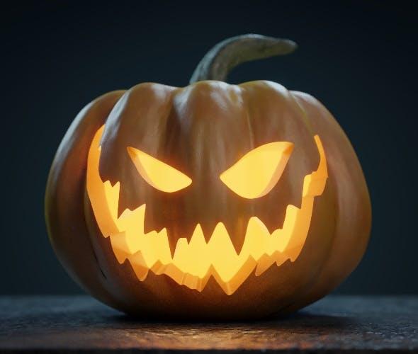 Halloween Pumpkin - Jack-o-lantern - 3DOcean Item for Sale