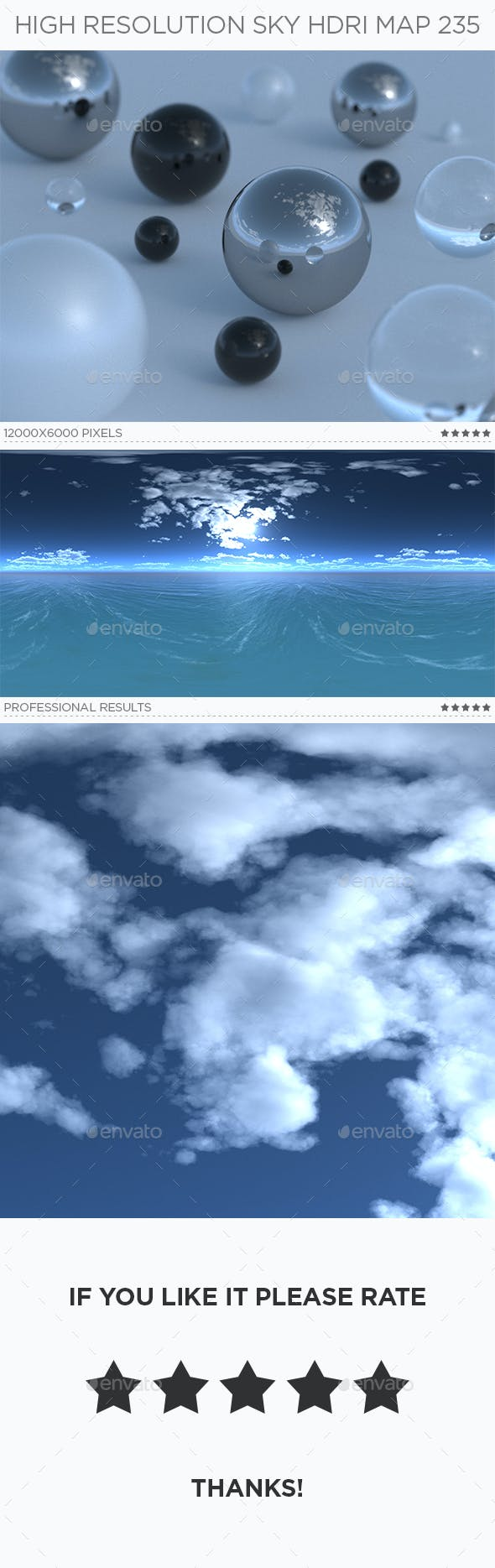 High Resolution Sky HDRi Map 235 - 3DOcean Item for Sale