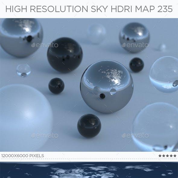 High Resolution Sky HDRi Map 235