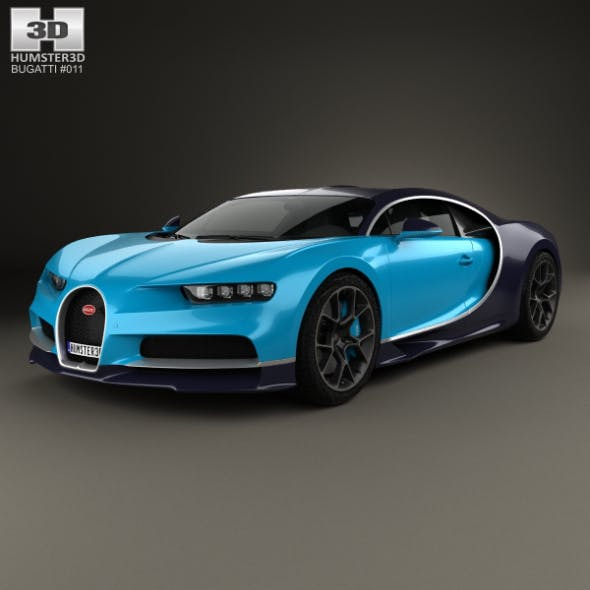 Bugatti Chiron 2017 - 3DOcean Item for Sale