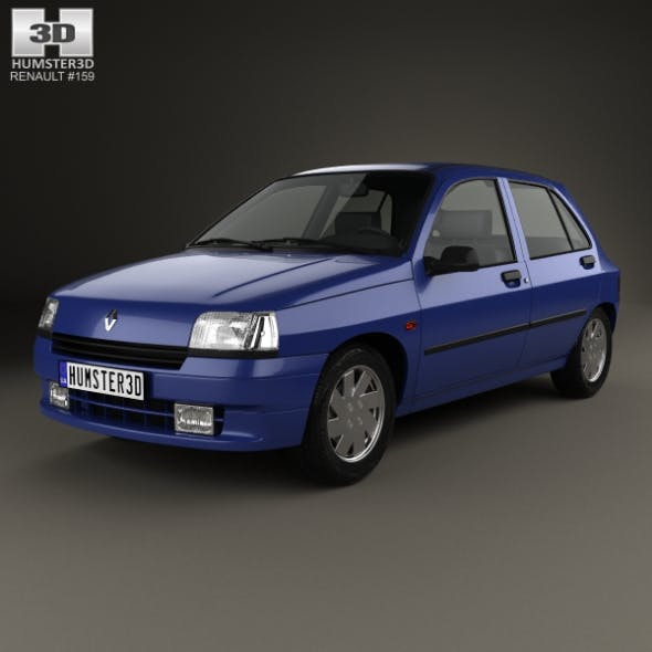 Renault Clio 5-door hatchback 1990 - 3DOcean Item for Sale