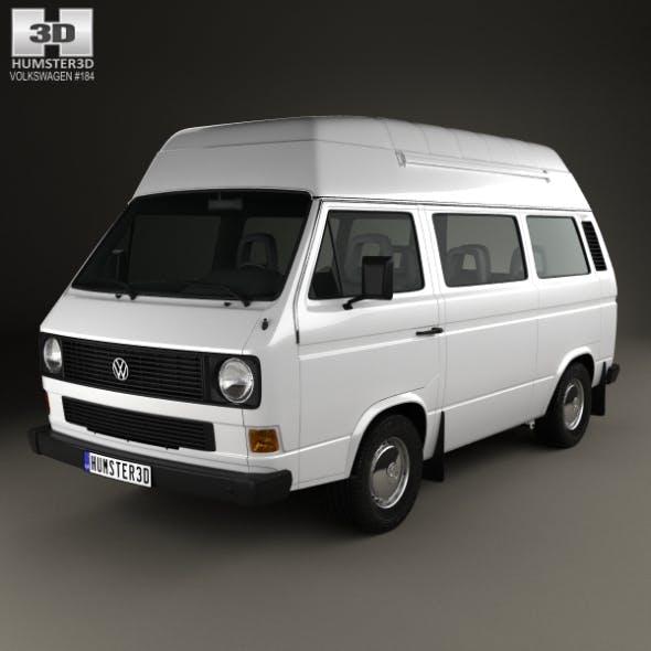 Volkswagen Transporter (T3) Passenger Van High Roof 1980 - 3DOcean Item for Sale