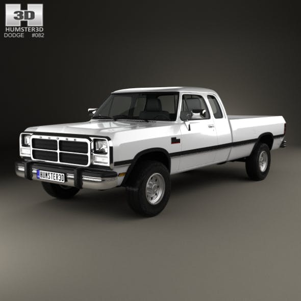 Dodge Ram Club Cab 1991 - 3DOcean Item for Sale