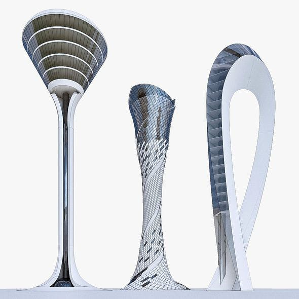 Airport Control Towers Collection - 3DOcean Item for Sale