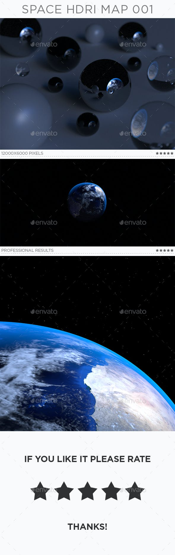 Space HDRi Map 001 - 3DOcean Item for Sale