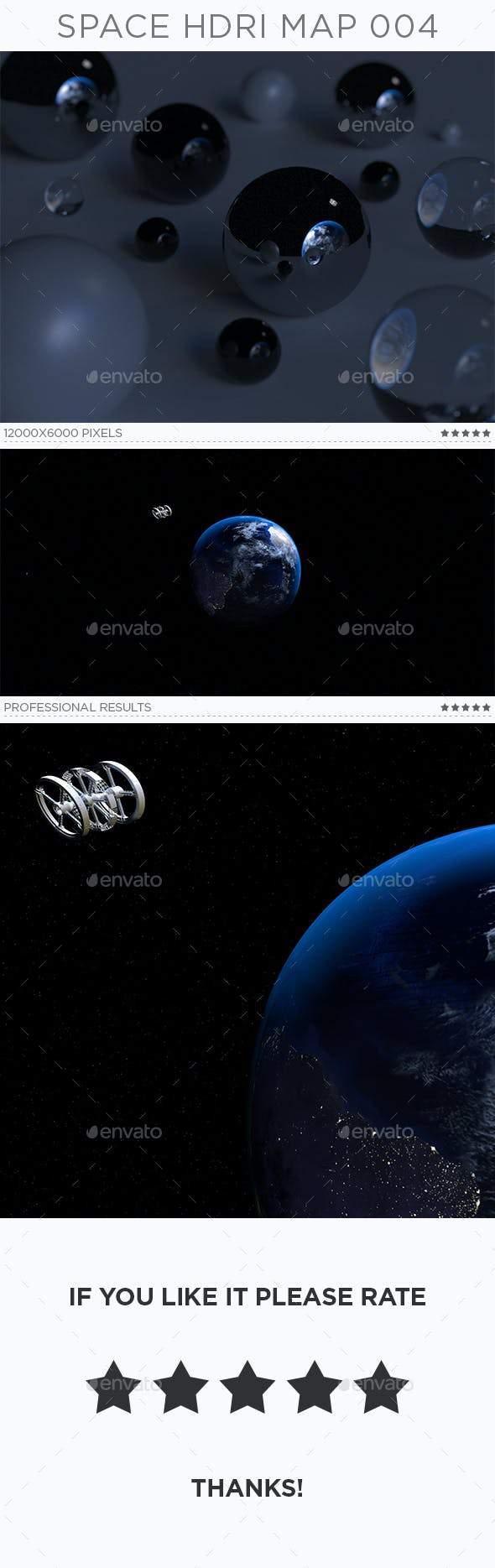 Space HDRi Map 004 - 3DOcean Item for Sale