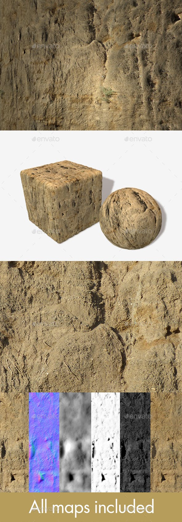 Dirt Cliff Face 2 Seamless Texture - 3DOcean Item for Sale