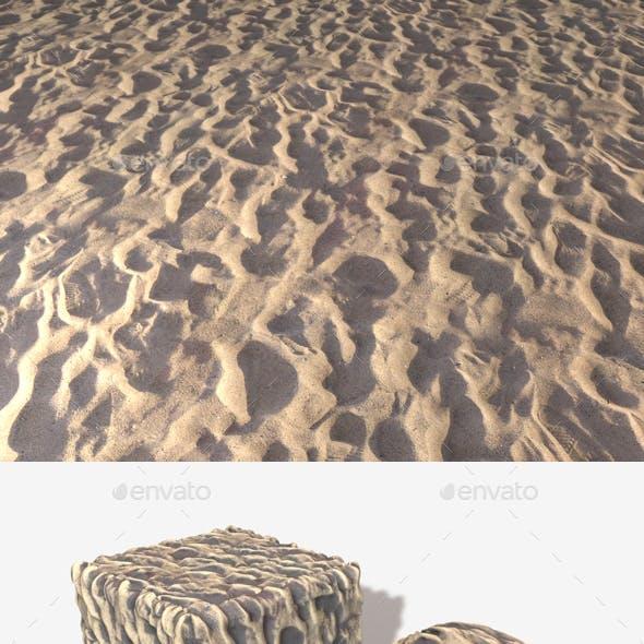 Sand Footprints Seamless Texture