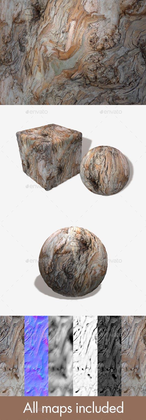 Wavy Bark 3 Seamless Texture - 3DOcean Item for Sale