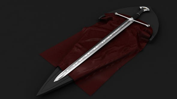 Lord of the rings sword model - 3DOcean Item for Sale