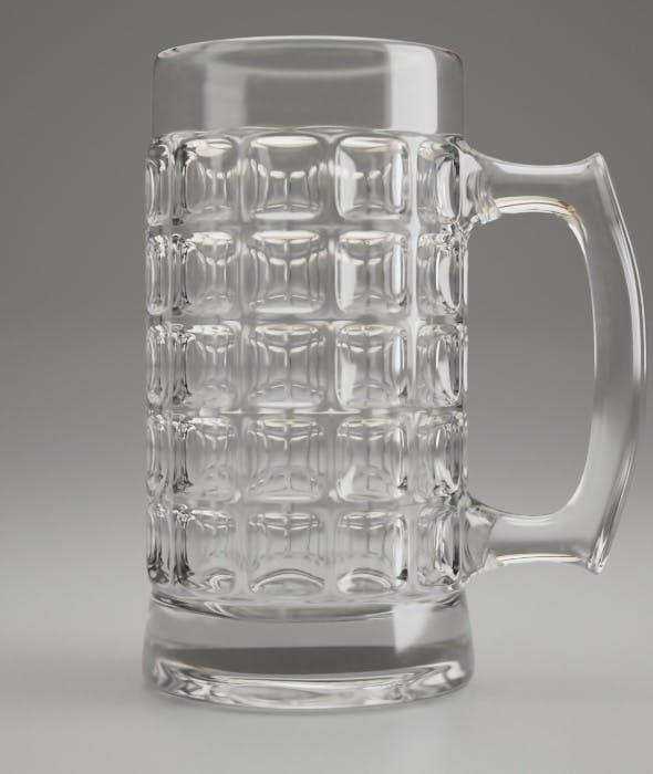 Dimpled Glass Beer Mug - 3DOcean Item for Sale
