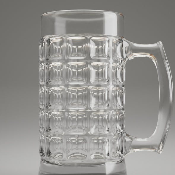 Dimpled Glass Beer Mug