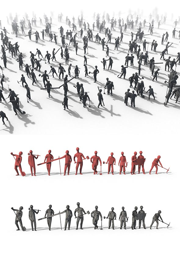 Low Poly Posed People Pack 9 - 3DOcean Item for Sale