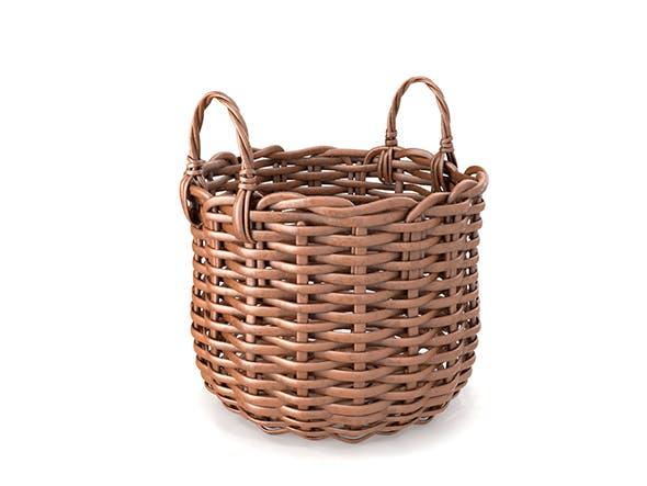 Wicker Basket - 3DOcean Item for Sale