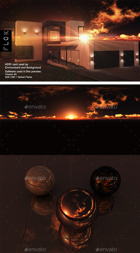 Sunset Desert 107 - 3DOcean Item for Sale