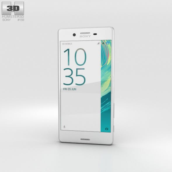 Sony Xperia X White - 3DOcean Item for Sale