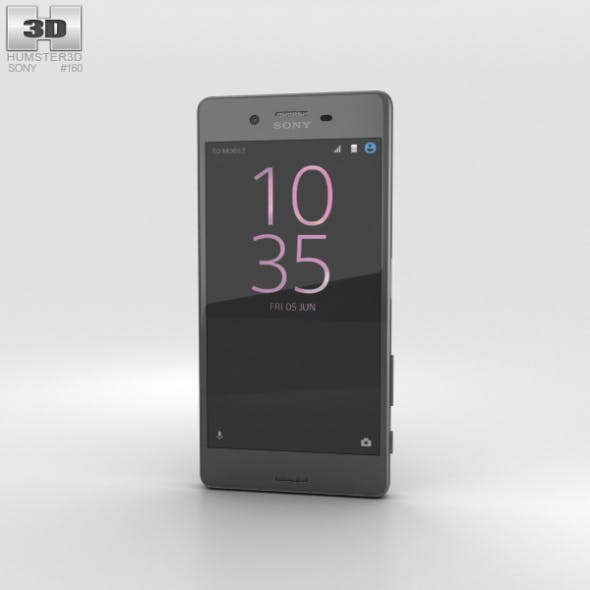 Sony Xperia X Performance Graphite Black - 3DOcean Item for Sale