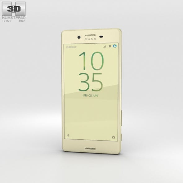 Sony Xperia X Performance Lime Gold - 3DOcean Item for Sale