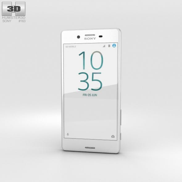 Sony Xperia X Performance White - 3DOcean Item for Sale