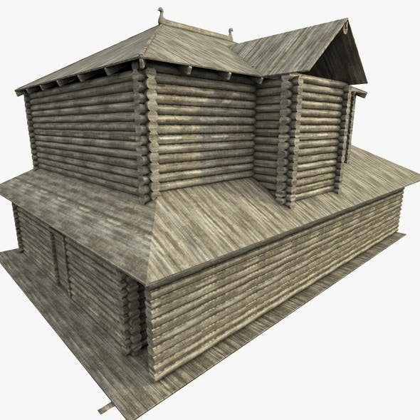 Ancient Log House - 3DOcean Item for Sale