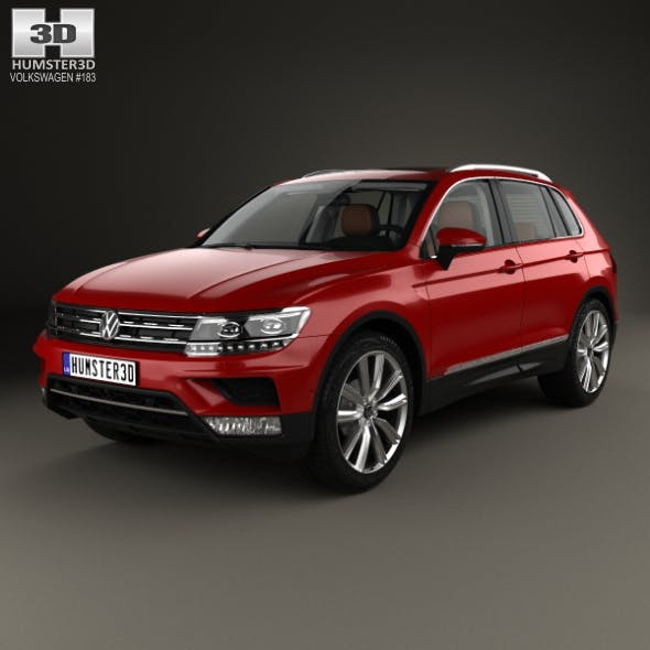 Volkswagen Tiguan with HQ interior 2015 - 3DOcean Item for Sale