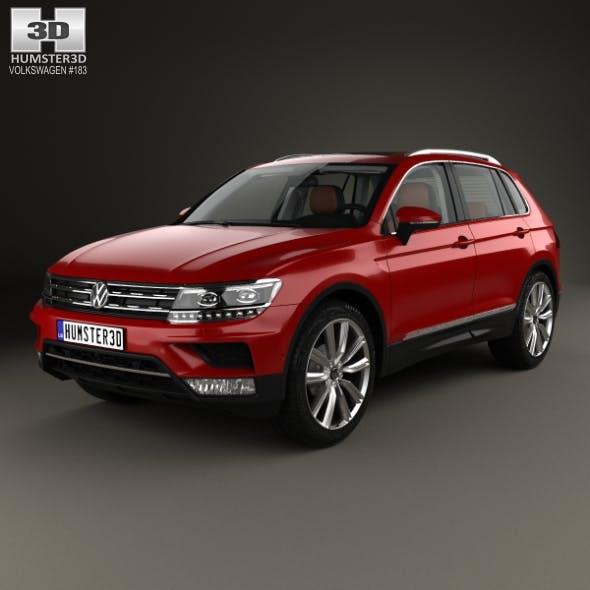 Volkswagen Tiguan with HQ interior 2015 - 3DOcean Item for Sale