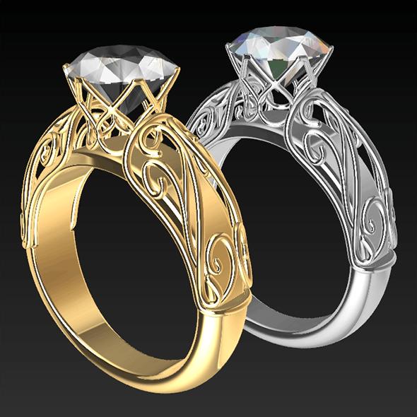 Pierced Ring - 3DOcean Item for Sale