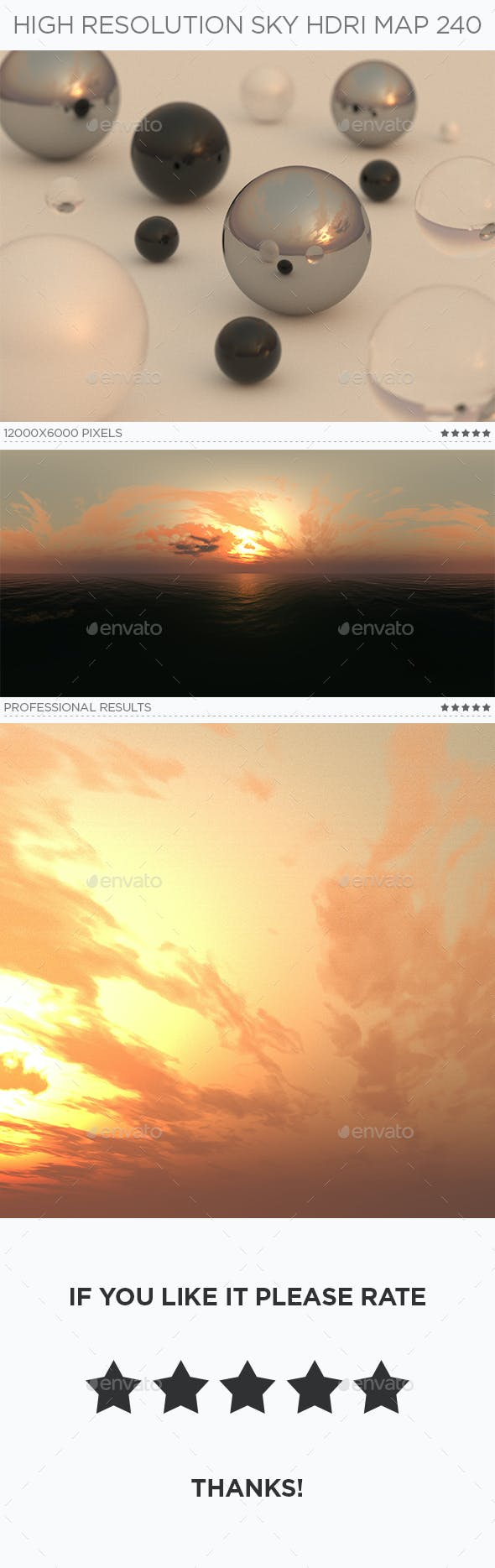 High Resolution Sky HDRi Map 240 - 3DOcean Item for Sale