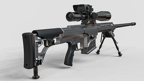 Sniper Rifle Set 3D model - 3DOcean Item for Sale