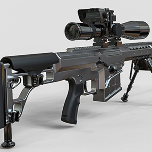 Sniper Rifle Set 3D model