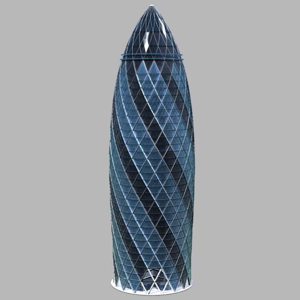 The Gherkin 30 St Mary Axe Skyscraper - 3DOcean Item for Sale