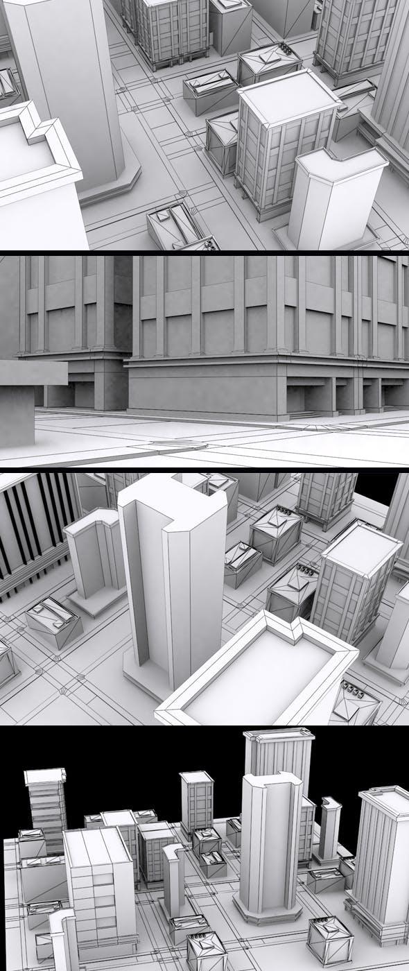 Vr City Block - 3DOcean Item for Sale