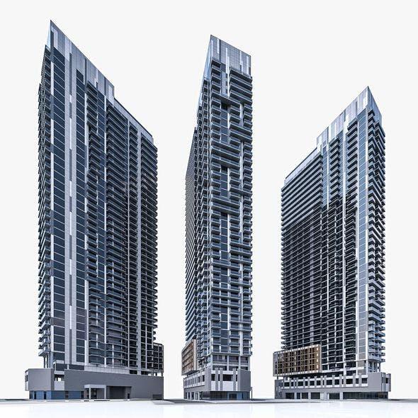 Apartment Building 02 - 3DOcean Item for Sale