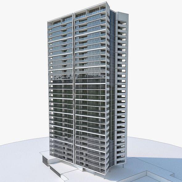 Apartment Building 03 - 3DOcean Item for Sale