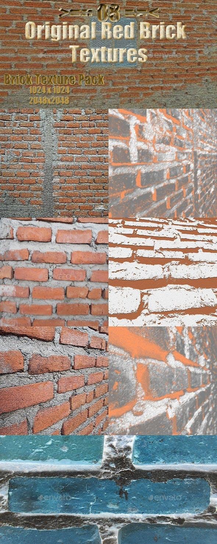 Bricks Original Texture Set - 3DOcean Item for Sale