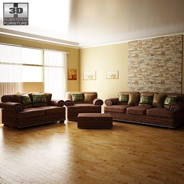 Ashley livingroom Ralston - 3D models. - 3DOcean Item for Sale