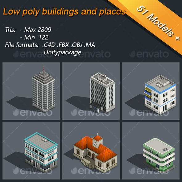 Low Poly Buildings And Places