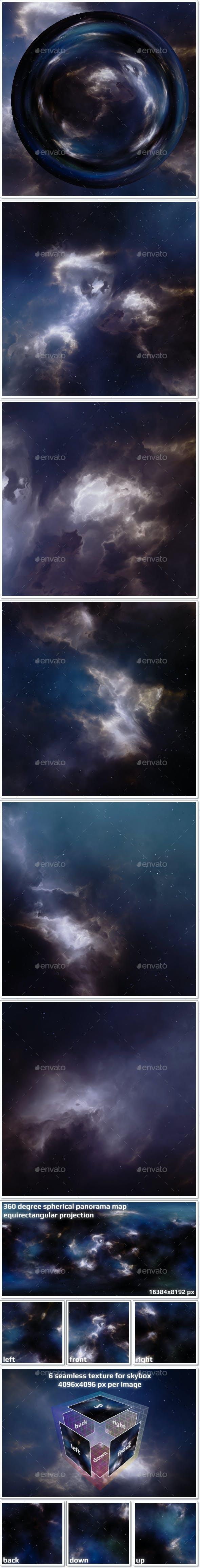 Nebula Space Environment HDRI Map 016 - 3DOcean Item for Sale