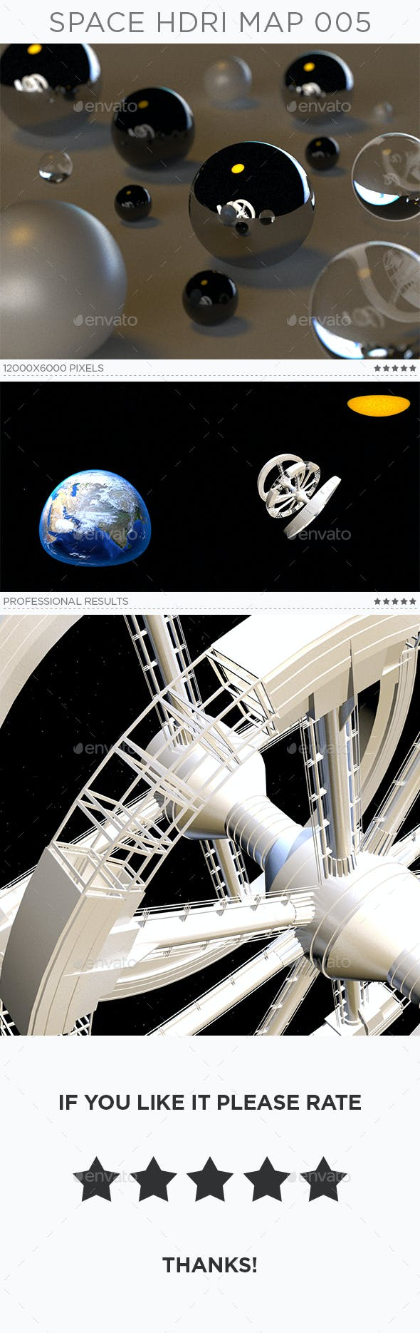 Space HDRi Map 005 - 3DOcean Item for Sale